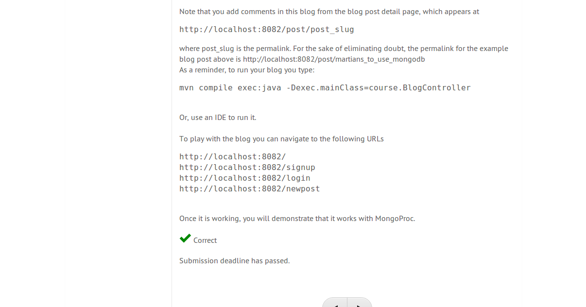 mongodb m101j homework answers 3.2