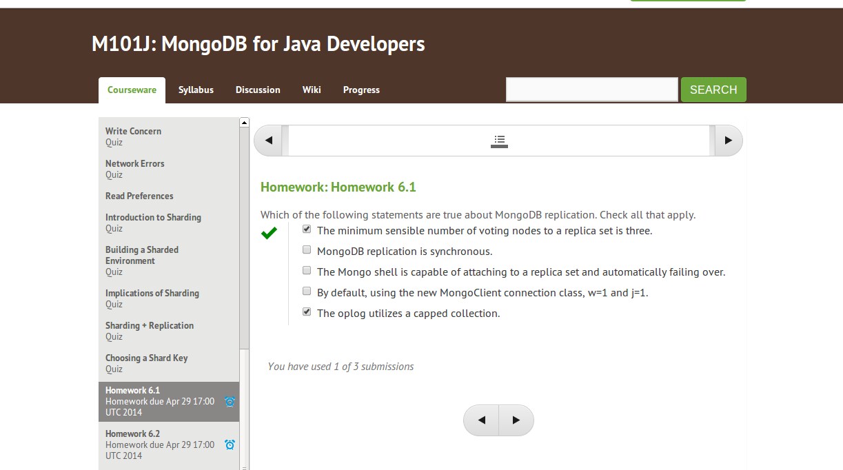 mongodb for java developers homework 2.4